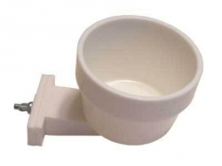 Lixit 10 oz high-density polystyrene crock WHITE