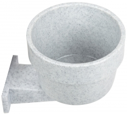 Lixit 10 oz high-density polystyrene crock GRANITE