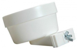 Lixit 20 oz high-density polystyrene crock WHITE