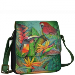 Anuschka Crossbody Organizer Tropical Bliss