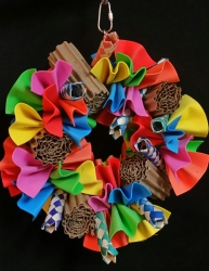 Bird Toy Creations Frilly Fun Wreath