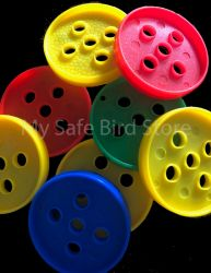 "Plastic Buttons XL 2.75"" 4 Pack"