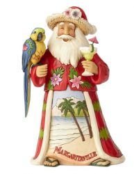 Margaritaville Santa with Parrot by Jim Shore