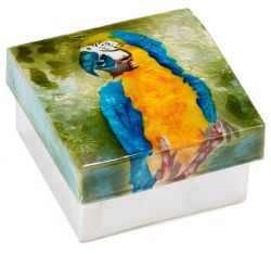 Capiz Shell Blue & Gold Macaw  Box