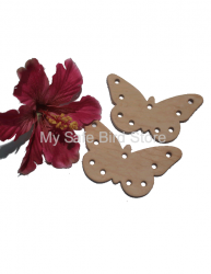 Large Leather Butterfly