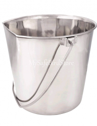 Two Quart Flat Sided Stainless Steel Bucket