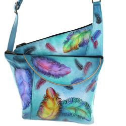 Anuschka Floating Feathers Slim Crossbody