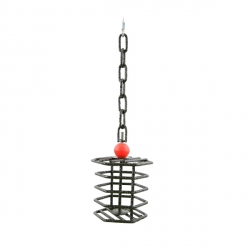 Small Hexagonal Wrought Iron Toy Feeder/Forager