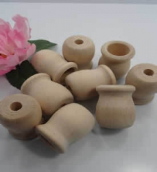 Wood (Pine) Candlestick Cups Drilled 1 1/2""