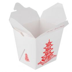 Asian Take-Out 8oz Container Printed White 5 Pack