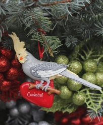 Cockatiel Christmas Ornament
