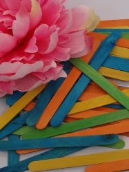Colored Wood Craft Sticks 25 Pack