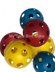 "Colored Plastic Wiffle Balls 3 1/4"" 3 Pack"