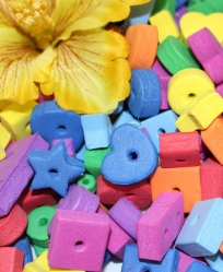 Drilled Foam Shapes for Toy Making 1/2 Ounce