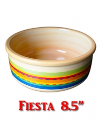 Ceramic Food Bowl Assorted Colors 8.5""