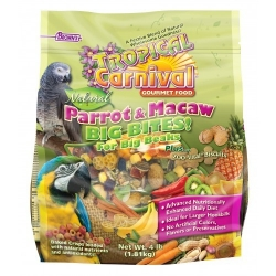FM Brown's Natural Parrot & Macaw Big Bites 4#