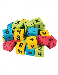 Foam Mini Math Dice