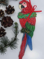 Green Wing Macaw Ornament