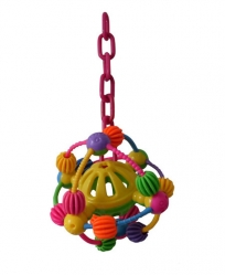 Happy Beaks Space Ball on Chain