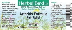 Arthritis Formula Herbal Extract 2 oz