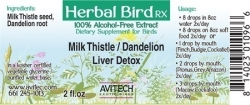 Milk Thistle/Dandelion Herbal Extract 2 oz