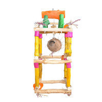 Java Wood Double Tower Hanging Play Stand Small