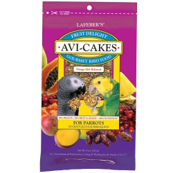 Lafeber's Fruit Avicakes Parrot 8 oz *NEW*