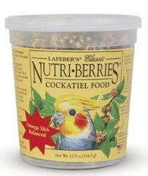 Lafebers Nutriberries Cockatiel 12.5 oz  Tub