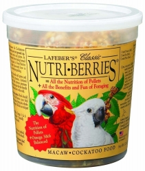 Lafebers Nutriberries Macaw 12 oz Tub