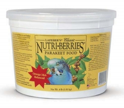 Lafebers Nutriberries Parakeet 4 lb. Tub
