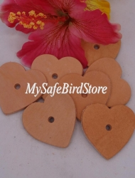 Leather Heart Medium 1 3/4""