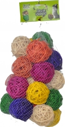 Java Wood Medium Rattan Bundle of Balls 5 cm 25 Pa