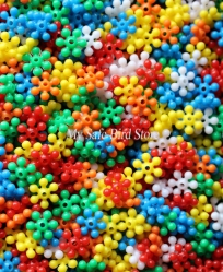 Mini Opaque Star Bead 1 Ounce