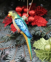 Old World Christmas Large Parakeet Glass Ornament