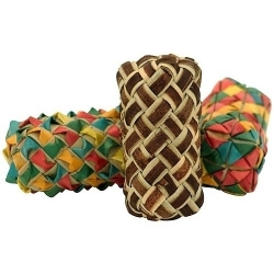 Planet Pleasures Woven Cylinder Foot Toy 3 Pack