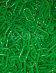Plastic Chain 2 Inch Green Per Foot