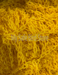 Plastic Chain 3/4 Inch Yellow Per Foot