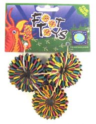 Planet Pleasures Tire Foot Toy 3 Pack