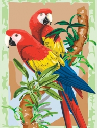 Royal & Langnickel Paint by Numbers Bamboo Parrots