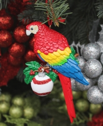 Scarlet Macaw Christmas Ornament