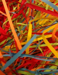 Shredded Neon Foraging Paper 1 ounce