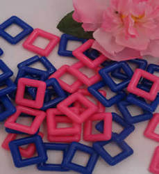 1 Inch Square Plastic Rings 6 Pack