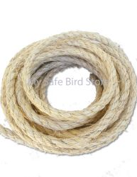 "Sisal Rope UNOILED White 1/4"" Per Foot"