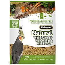 Zupreem Natural Cockatiel 20# Bag