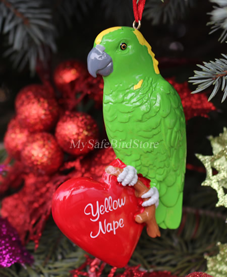 ZZ-HH250 Amazon Parrot Christmas Ornament - GIFT GUIDE