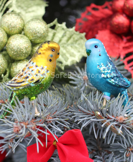 ZZ-OWC18049 Old World Christmas Parakeet/Budgie Glass