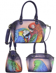 Anuschka Mini Convertible Tote Rainforest Royalty