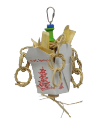 Mini Chinese Take-Out by Made in the USA Bird Toys