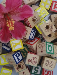 Wood Alphabet Blocks 1 1/4