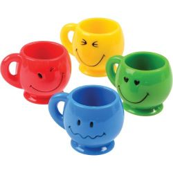 Mini Smiley Mugs 3 Pack